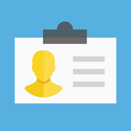 personal data: Vector Identification Card Icon