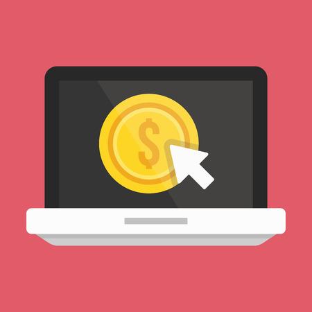 cpl: Vector Laptop Pay per Click Icon