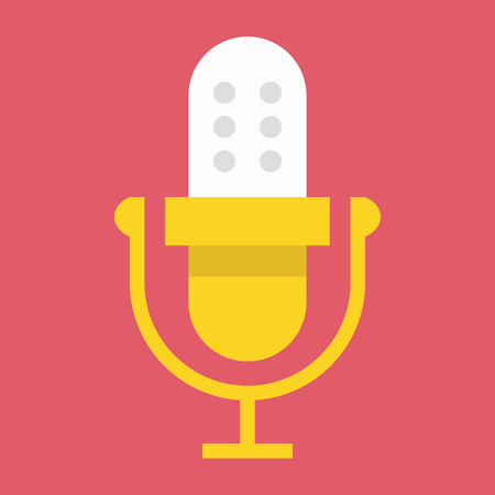 Vector Microphone or Audio Recording Icon Vector
