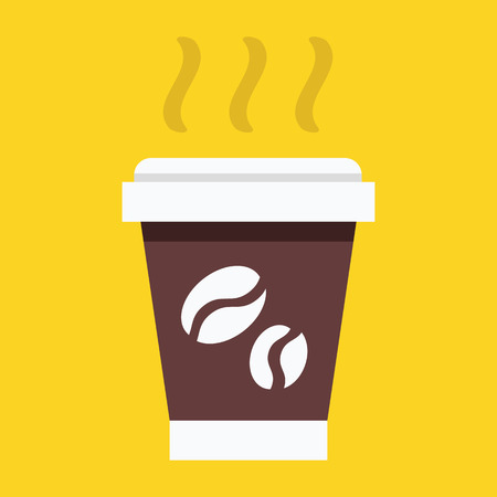 Vector Paper Coffee Cup Icon Stock Vector - 26482331
