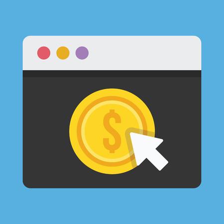 monetize: Vector Pay Per Click Icon