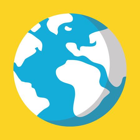 earth cartoon: Vector Planet Earth Icon