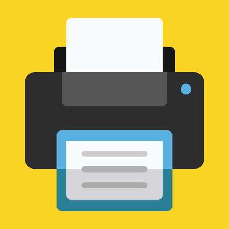 Vector Printer Icon Çizim