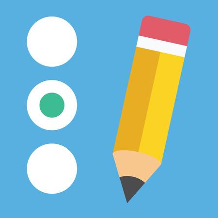 poll: Vector Quiz or Radio Buttons Icon