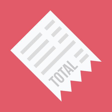 receipt: Vector Receipt Icon