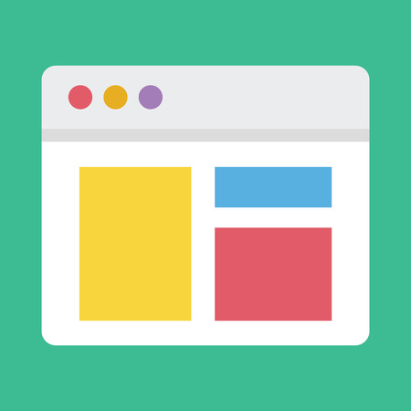 web design icon: Vector Responsive Web Design Icon