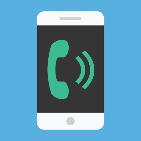 Vector Ringing Smartphone Icon Vector