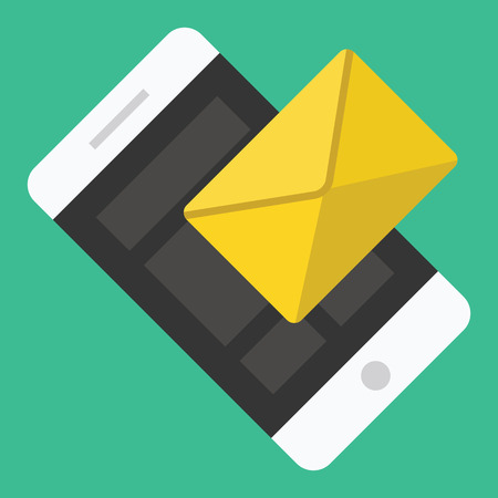 Vector Smartphone Email or SMS Icon Vector