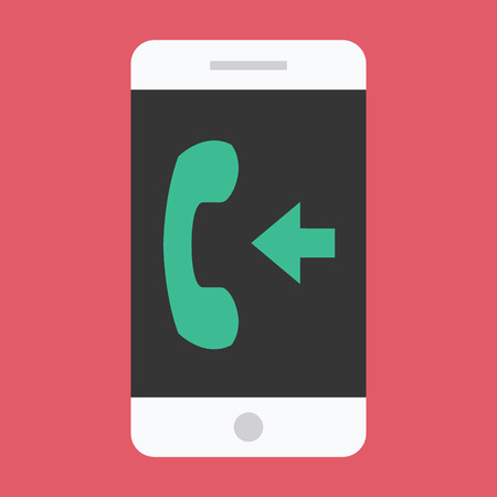 incoming: Vector Smartphone Incoming Call Icon