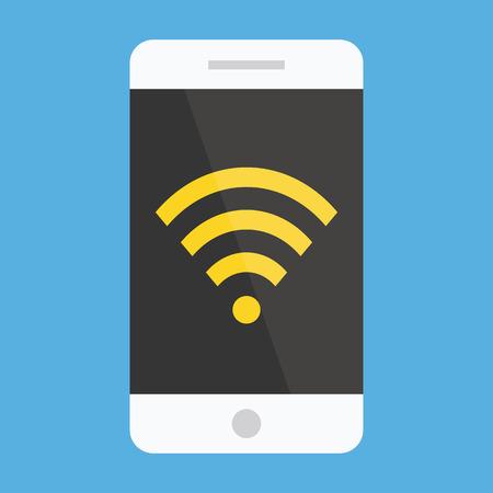 icono wifi: Vector Smartphone Wifi Icon