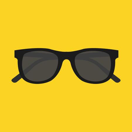 fashion sunglasses: Vector Sunglasses Icon Illustration