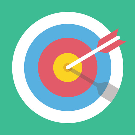 focus on the goal: Vector Target Marketing Icon