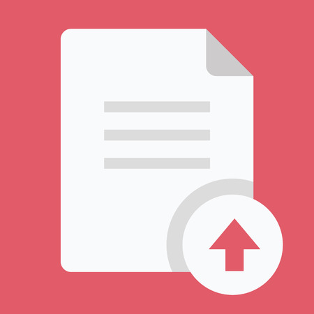 archive site: Vector Upload Document Icon Illustration