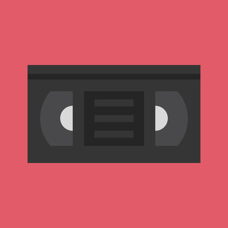 video cassette tape: Vector Video Tape Icon