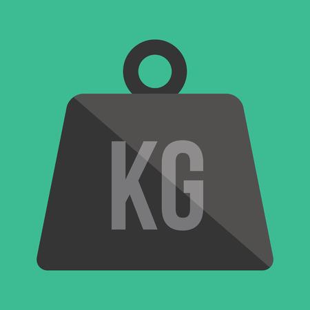 Ikona wektor Waga Kilogram
