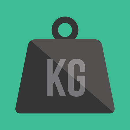 simple store: Vector Weight Kilogram Icon Illustration