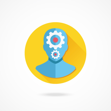 setup man: Vector Account User Settings Icon Illustration