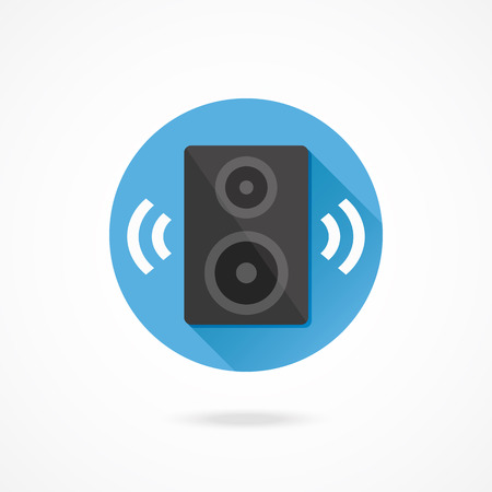 Vector Audio Speaker Icon Illustration