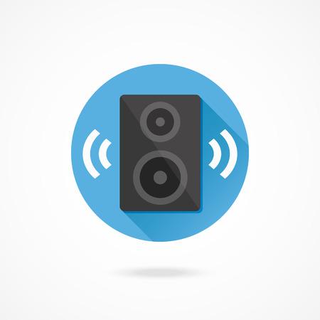 woofer: Vector Audio Speaker Icon Illustration