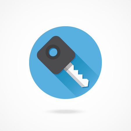 signaling: Vector Car Key Icon Illustration