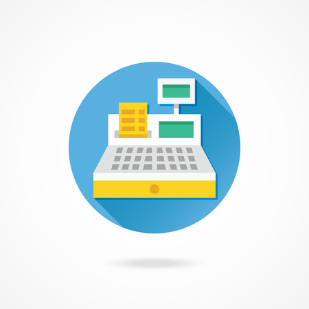 cash: Vector Cash Register Icono Vectores