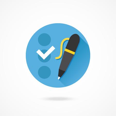 selection box: Vector Checklist and Pen Icon Illustration