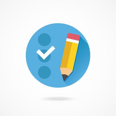 web survey: Vector Checklist Icon