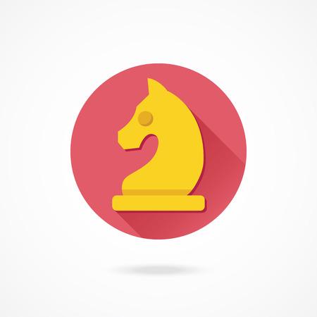 chess knight: Vector Chess Knight Icono