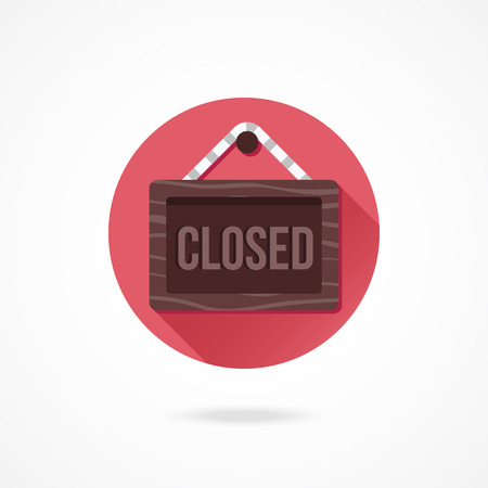 Vector Closed Hanging Sign Icon Vector