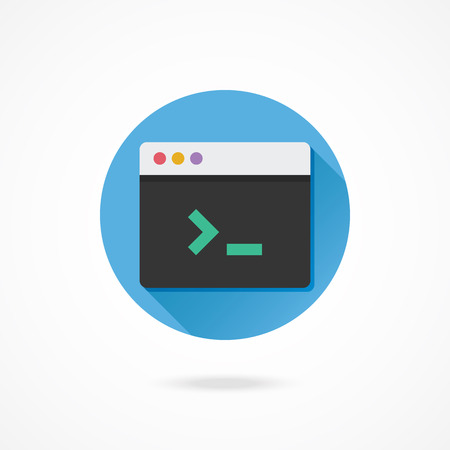 gateway: Vector Command Line Icon Illustration