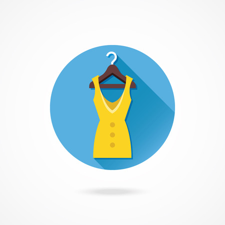 Vector Dress Hanging on Hanger Icon Vector