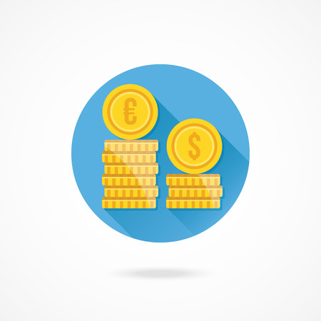 currency exchange: Vector Exchange Rates Icon