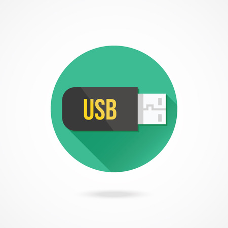 usb disk: Vector Flash USB Device Icon