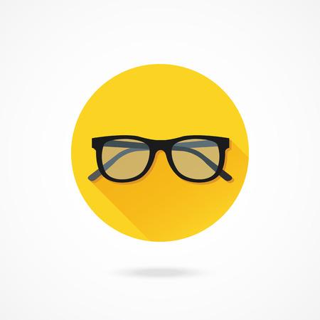 sunglasses isolated: Vector Glasses Icon Illustration
