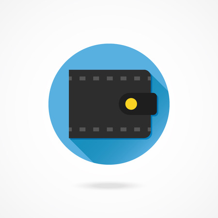 Vector Leather Wallet Icon Vector