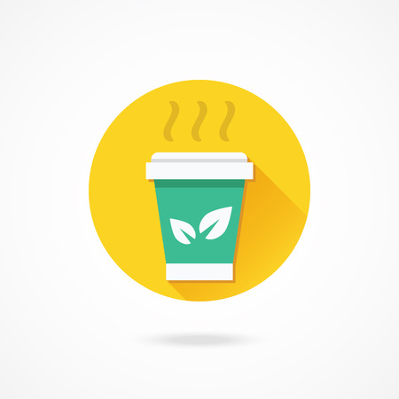 Vector Paper Tea Cup Icon Vector