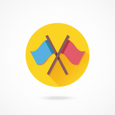 conquest: Vector Crossed Flags Icon