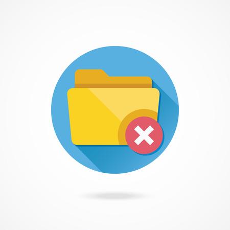 archive site: Vector Delete Folder Icon