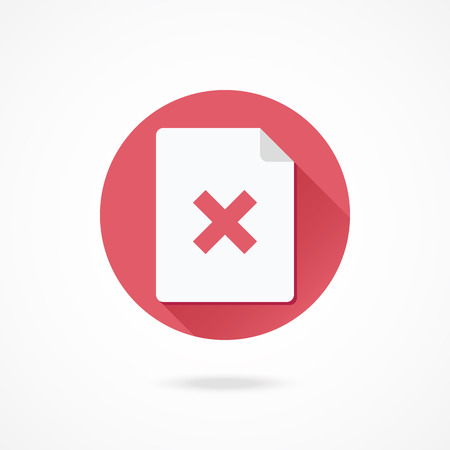 cancel: Vector Document and Cross Icon