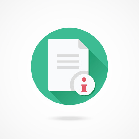 claim: Vector Document Information Icon Illustration
