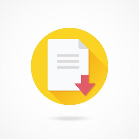 vector download: Vector Download File Icon