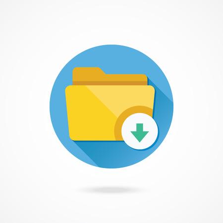 vector download: Vector Download Folder Icon