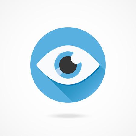 ベクトルの目のアイコン