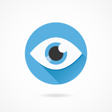 with blue eyes: Vector Eye Icon Illustration