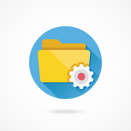 Vector Folder Settings Icon Иллюстрация