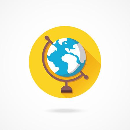 terrestrial: Vector Globe Icon