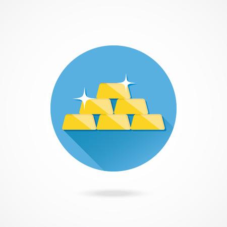 goldbars: Vector Golden Bars Pyramid Icon