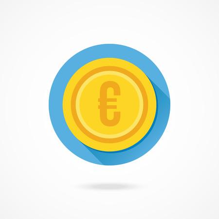 awarded: Vector Gold Coin Euro Icon