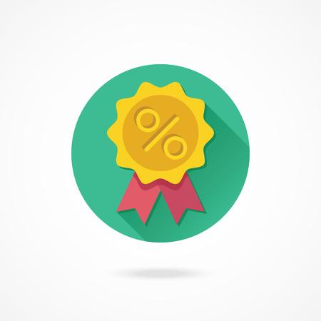 Vector Gold Sale Badge Icon Vector