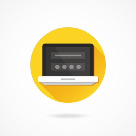 Vector Laptop Login Page Icon Vector